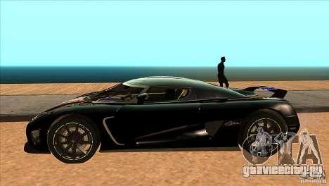 Koenigsegg Agera 2010 для GTA San Andreas вид слева