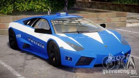 Lamborghini Reventon Polizia Italiana для GTA 4 вид слева