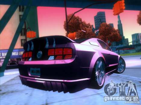 Ford Mustang Eleanor Prototype для GTA San Andreas вид сзади