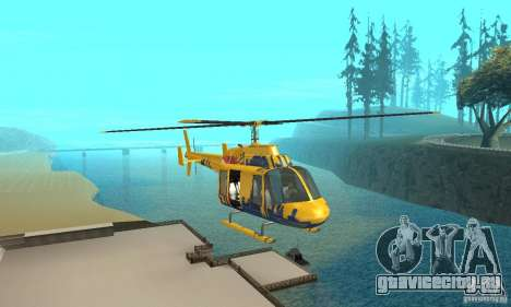 Экскурсионный вертолёт из gta 4 для GTA San Andreas вид сзади
