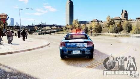 POLICIA FEDERAL MEXICO DODGE CHARGER ELS для GTA 4 вид сзади слева