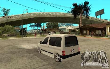 Citroen Berlingo 2007 для GTA San Andreas вид сзади слева