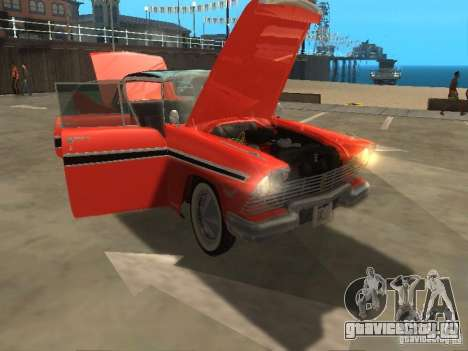 Plymouth Belvedere Sport sedan для GTA San Andreas вид сзади