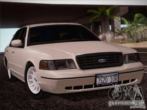 Ford Crown Victoria Interceptor для GTA San Andreas вид сзади слева