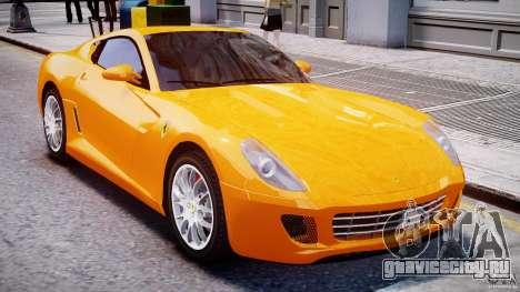Ferrari 599 GTB Fiorano для GTA 4 вид сверху