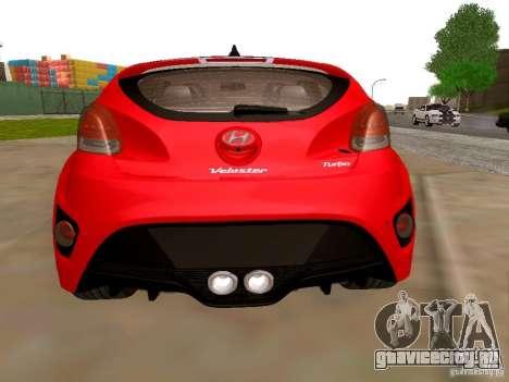 Hyundai Veloster Turbo v1.0 для GTA San Andreas вид сзади слева