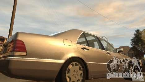 Mersedes-Benz 500SE Wheels 2 для GTA 4 вид сзади слева
