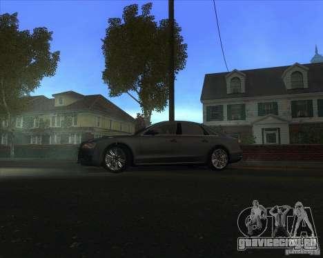 Audi A8 для GTA San Andreas вид сзади слева
