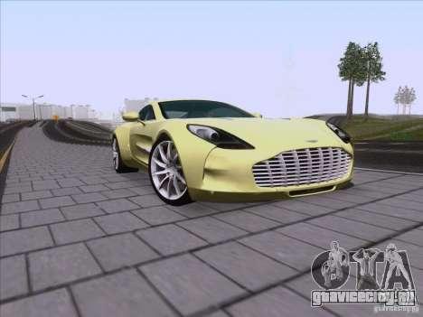 Aston Martin One-77 2010 для GTA San Andreas вид сбоку