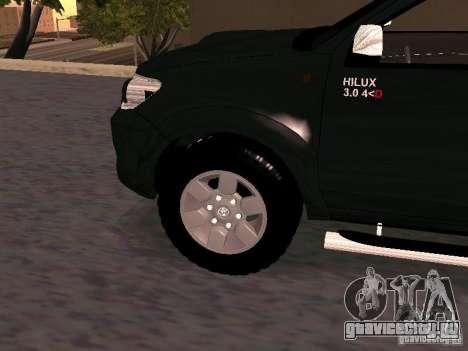 Toyota Hilux SRV 3.0 4X4 Automatica для GTA San Andreas вид справа