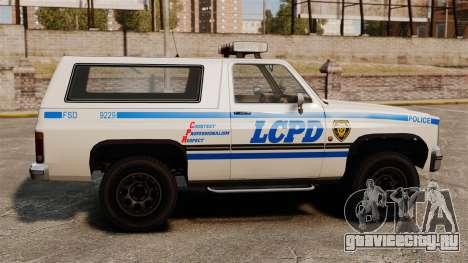 Полицейский Rancher ELS для GTA 4 вид слева