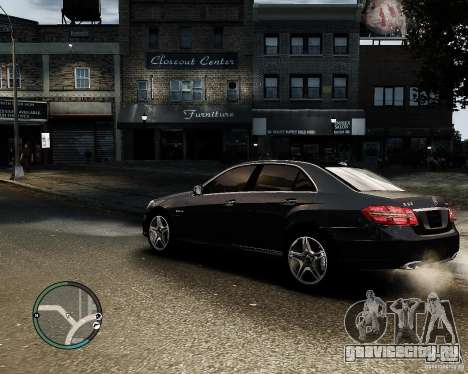 Mercedes Benz E63 AMG v2.0 2010 для GTA 4 вид слева