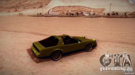 Pontiac Firebird Trans Am для GTA San Andreas вид сзади слева