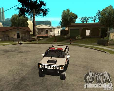 AMG H2 HUMMER - RED CROSS (ambulance) для GTA San Andreas вид сзади