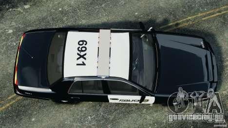 Ford Crown Victoria Police Interceptor 2003 LCPD для GTA 4 вид справа