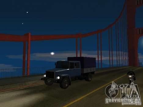 ГАЗ 3309 Егерь для GTA San Andreas вид сзади