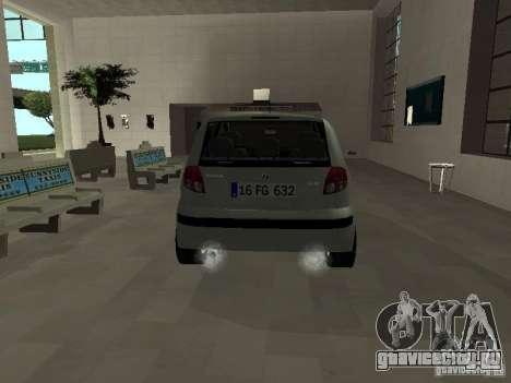 Hyundai Getz для GTA San Andreas вид справа