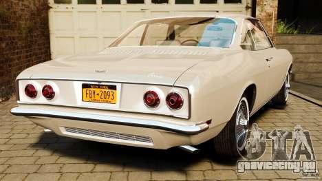 Chevrolet Corvair Monza 1969 для GTA 4 вид сзади слева