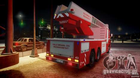 Scania Fire Ladder v1.1 Emerglights blue-red ELS для GTA 4 колёса