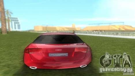 Audi Nuvolari Quattro для GTA Vice City вид сзади слева