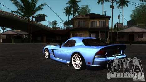 Dodge Viper SRT10 Stock для GTA San Andreas вид сзади слева