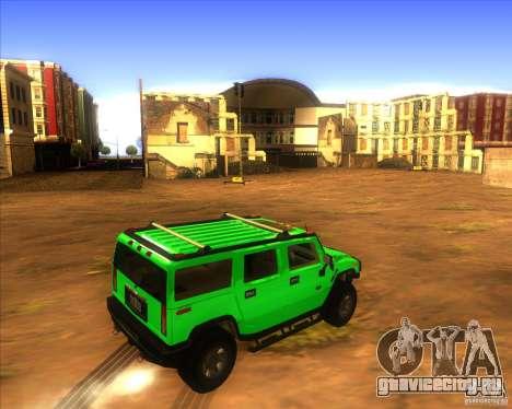Hummer H2 updated для GTA San Andreas вид сзади слева