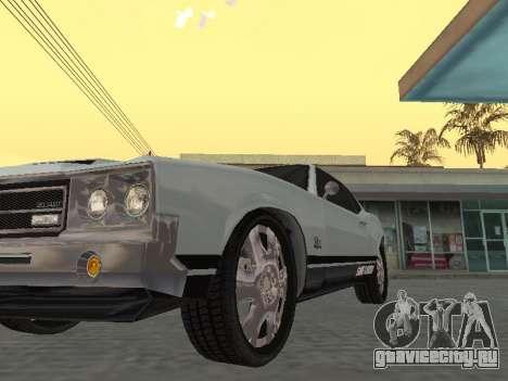 SabreGT из GTA 4 для GTA San Andreas вид сзади