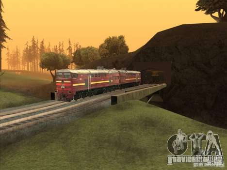 2ТЭ10У-0211 для GTA San Andreas вид изнутри