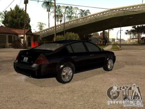 Nissan Teana для GTA San Andreas вид сзади