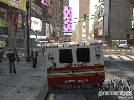Chevrolet Ambulance FDNY v1.3 для GTA 4 вид сзади слева