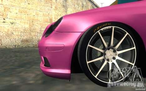 Mercedes-Benz CLK55 AMG для GTA San Andreas вид изнутри