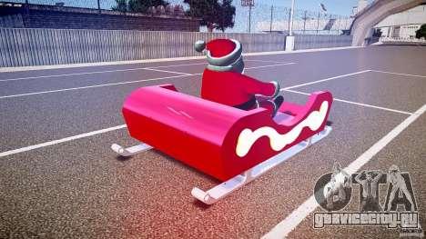 Santa Sled normal version для GTA 4 вид сбоку