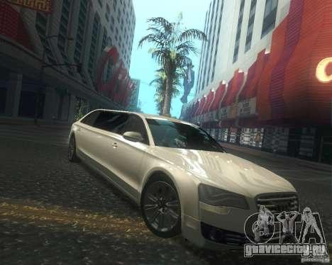 Audi A8 2011 Limo для GTA San Andreas вид изнутри