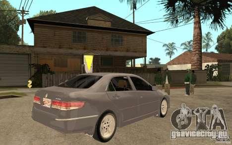 Honda Accord 2004 v2 для GTA San Andreas вид справа