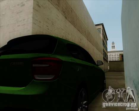 BMW M135i V1.0 2013 для GTA San Andreas вид изнутри