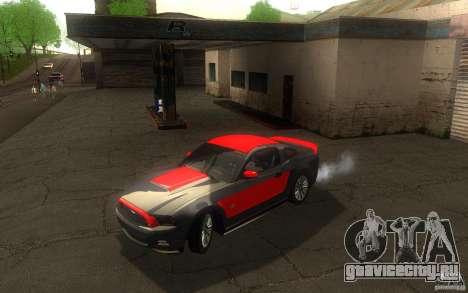 Ford Mustang GT V6 2011 для GTA San Andreas вид сверху