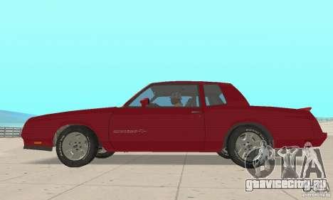 Chevrolet Monte Carlo SS 1986 для GTA San Andreas вид сзади слева