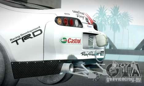 Toyota Supra JZA80 RZ Dragster для GTA San Andreas вид справа