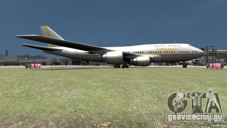 Real Emirates Airplane Skins Gold для GTA 4 вид сзади слева