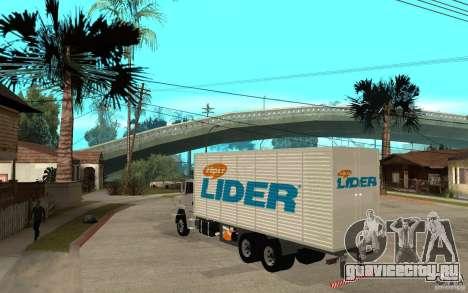 Camiуn Hiper Lider для GTA San Andreas вид сзади слева