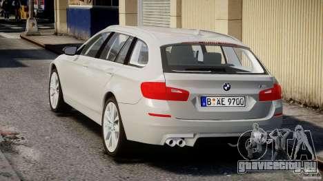 BMW M5 F11 Touring для GTA 4 вид сзади слева
