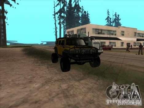 Hummer H3 Trial для GTA San Andreas вид сзади