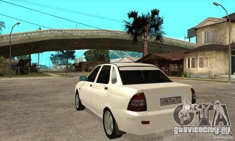 Lada Priora для GTA San Andreas вид сзади слева