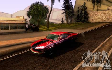 Ford Mustang Boss 302 для GTA San Andreas вид снизу