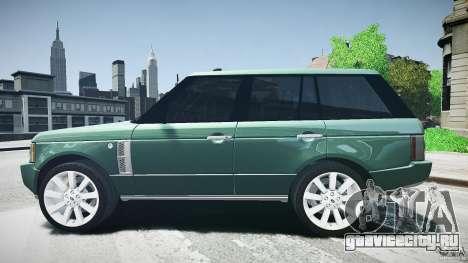Range Rover Supercharged v1.0 для GTA 4 вид слева