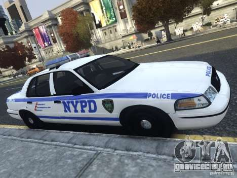 Ford Crown Victoria NYPD 2012 для GTA 4 вид слева