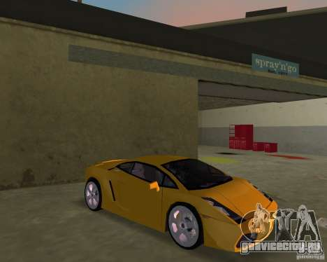 Lamborghini Gallardo v.2 для GTA Vice City вид сзади