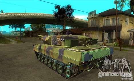Leopard 2 A6 для GTA San Andreas вид сзади слева