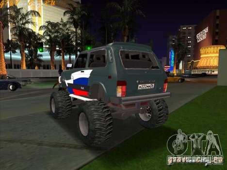 VAZ-21213 4x4 Monster для GTA San Andreas вид слева