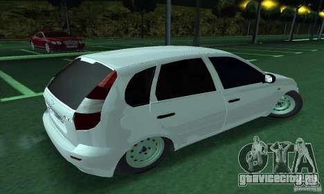 Lada Kalina Hatchback для GTA San Andreas вид слева